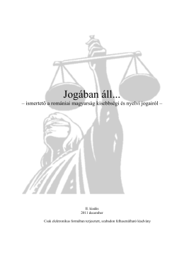 Jogában áll... - european committee human rights hungarians