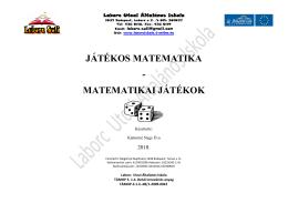 Játékos matematika - matematikai játékok