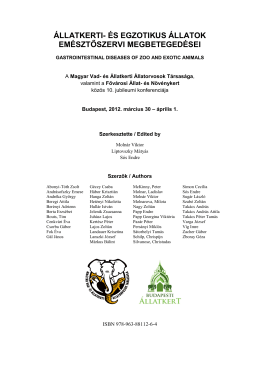 A konferencia Kiadványkötete (PDF)