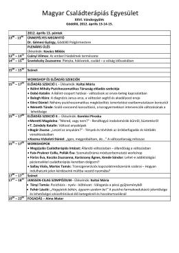 program - Magyar Családterápiás Egyesület