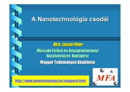 A Nanotechnológia csodái