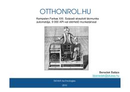 OTTHONROL.HU - Első Magyar Üzleti Angyal Hálózat