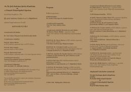 Meghívó belső oldal - Ifj. gróf Andrássy Gyula Alapítvány