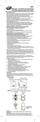 Montage- und Bedienungsanleitung - REV