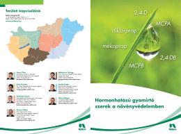 Hormonhatású gyomirtó szerek a növényvédelemben