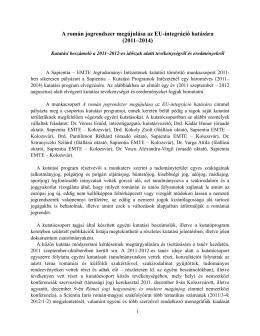 A román jogrendszer megújulása az EU
