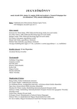 Jegyzőkönyv a 2014. június 14