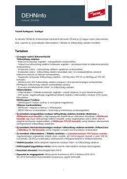 Letöltés PDF DEHNinfo 4-2014 - DEHN + SÖHNE • Magyarország