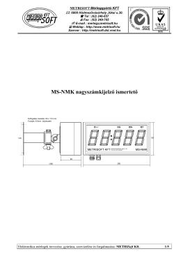 MS-NMK nagyszámkijelző ismertető