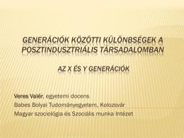 Generációk közötti különbségek a posztindusztriális