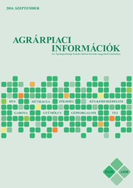 2014. szeptember - Agrárgazdasági Kutató Intézet