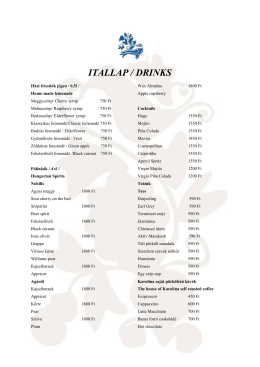 ITALLAP / DRINKS