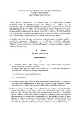 3/2011(II.08.) a helyi állattartás szabályairól