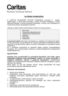 24-ÓRÁS-GONDOZÁS
