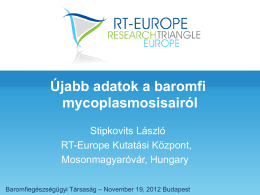 Ujabb adatok a baromfi mycoplasmosisairól – Dr. Stipkovits L.