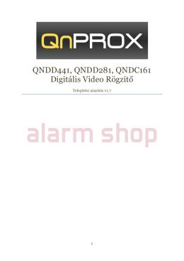 QnProx QNDD441, QNDD281, QNDC161 telepítési utasítás