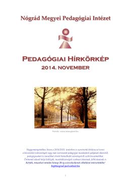 Pedagógiai Hírkörkép - Nógrád Megyei Pedagógiai Intézet