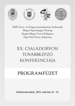 Programfüzet - Magyar Egészségügyi Társaság