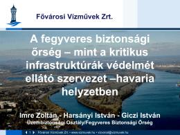 Fővárosi Vízművek Zrt. prezentációja
