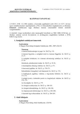(005 - KATONAI TANANYAG őrmester - módosítás