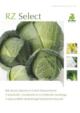 RZ Select Káposzta és karfiol fajtaajánlat 2012