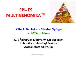 EPI-‐ ÉS MULTIGENOMIKA™