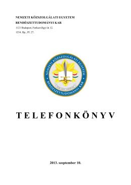 Bels? telefonkönyv - UNI-NKE