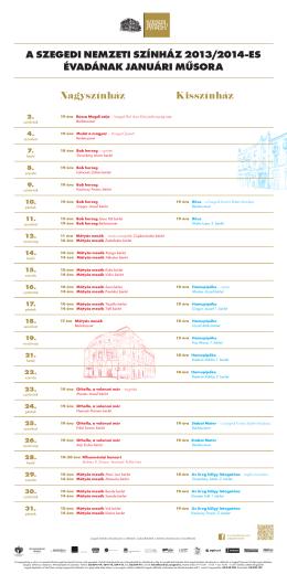 2013-2014 évad - Január műsorfüzet