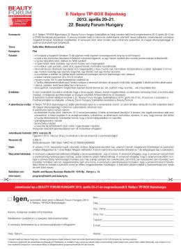   II. Nailpro TIP-BOX Bajnokság 2013. április 20–21. 22. Beauty