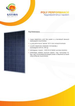 Polytípusú panelek - Gátiba Solar Kft.