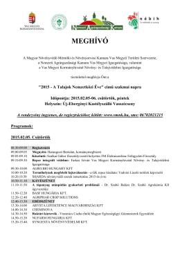 MEGHÍVÓ - Magyar Növényvédő Mérnöki és Növényorvosi Kamara