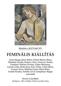 Merítés a KUT-ból XV. - FEMINÁLIS KIÁLLÍTÁS - Haas