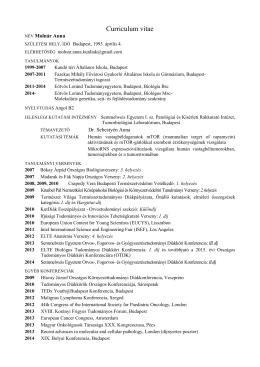 CV pdf - Stephen W. Kuffler Kutatási Alapítvány