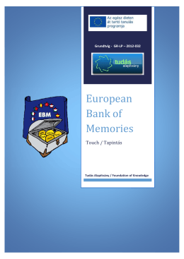 European Bank of Memories