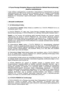 Az MKB-Eurocredit Rt - Toyota Pénzügyi Zrt.