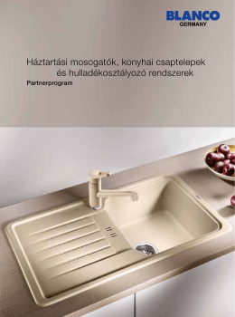 Háztartási mosogatók, konyhai csaptelepek és hulladékosztályozó