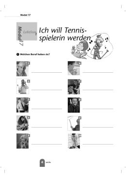 Ich will Tennis - spielerin werden
