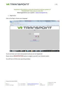 VR Transpoint sähköinen kirjelomake