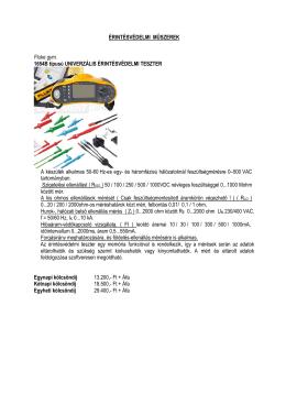 Érintésvédelmi műszerek