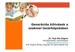 Generációs kihívások a szakmai tanárképzésben Dr