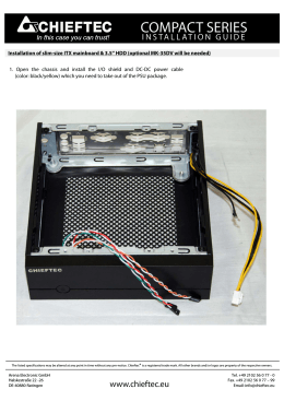 Installation of slim-size ITX mainboard and 3 5 HDD