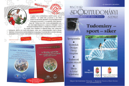 Tudomány – sport – siker