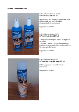 RIWAX – beauty for cars RIWAX Leather Cleaner 03232 RIWAX