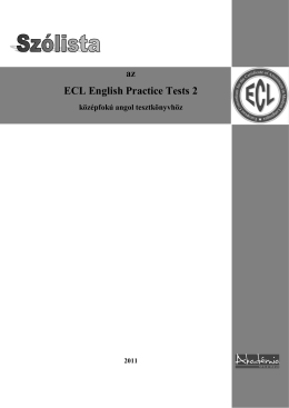 ECL English Practice Tests 2 Word list