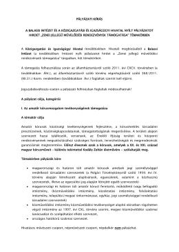A teljes pályázati kiírás letöltése (pdf)