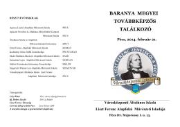 Műsorfüzet - Liszt Ferenc Zeneiskola