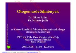 Otogen szövődmények.pdf - PTE ÁOK Fül-Orr