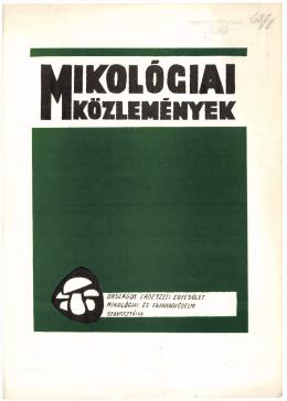 Mikológiai Közlemények - Clusiana (1968)