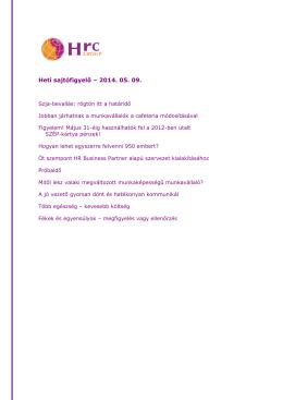 Heti sajtófigyelő – 2009