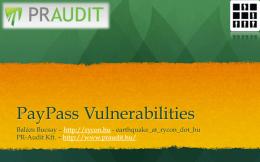 PayPass Vulnerabilities